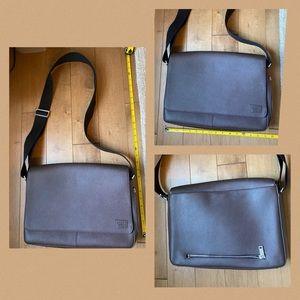 Jack Spade NY Saffiano Chocolate Messenger Bag